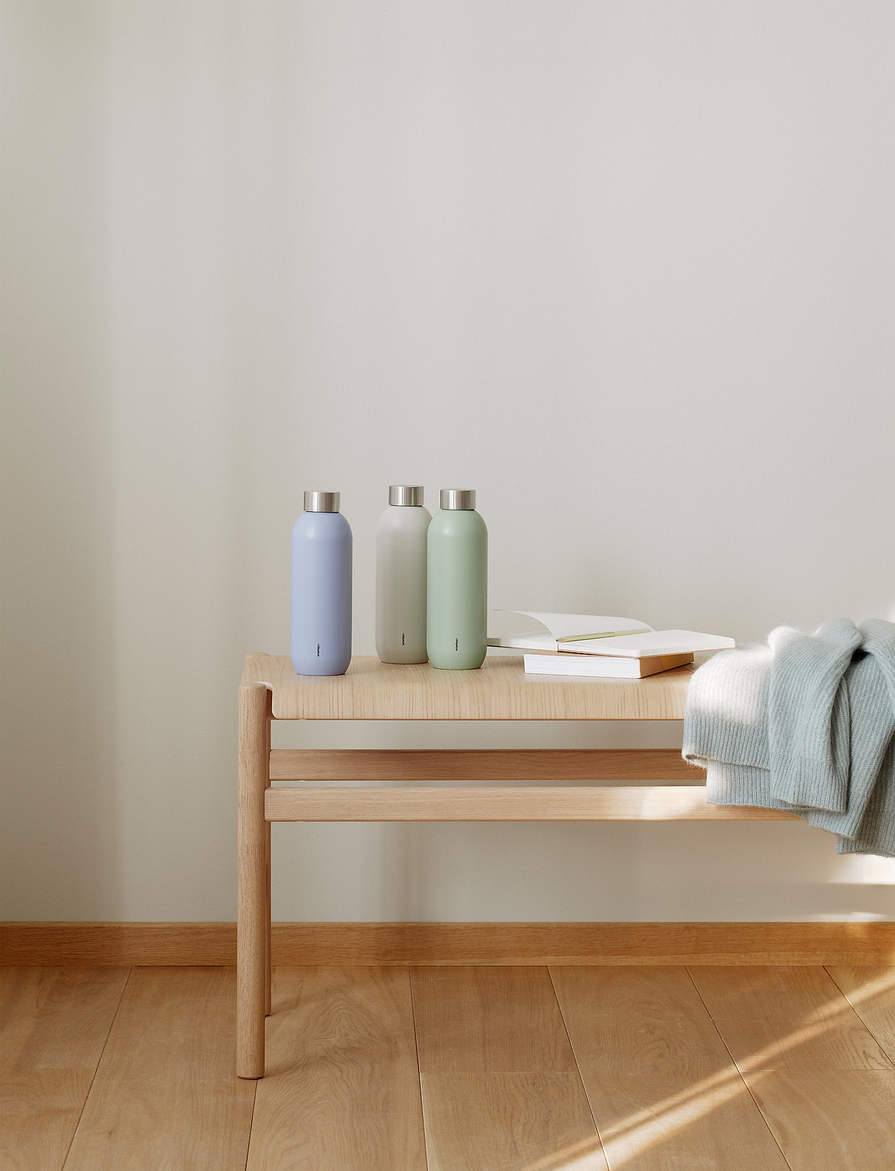 Stelton - Keep Cool vacuum drinking bottle, 0.6 l. - vesi- ja lasipullot - sand/steel - 1