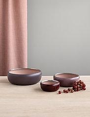 Stelton - Ora bowl - tarjoilukulhot - warm maroon / powder - 0