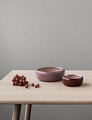 Stelton - Ora bowl - tarjoilukulhot - warm maroon / powder - 3