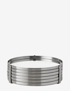 AJ coaster - 6 pcs - bordbrikker, glassunderlag & bordskånere - steel