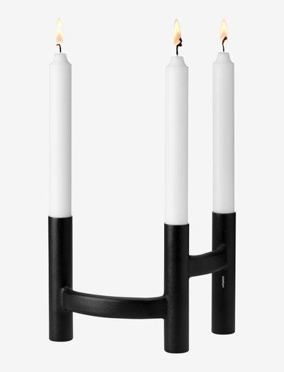 Ora three-branch candleholder - kynttilänjalat - black