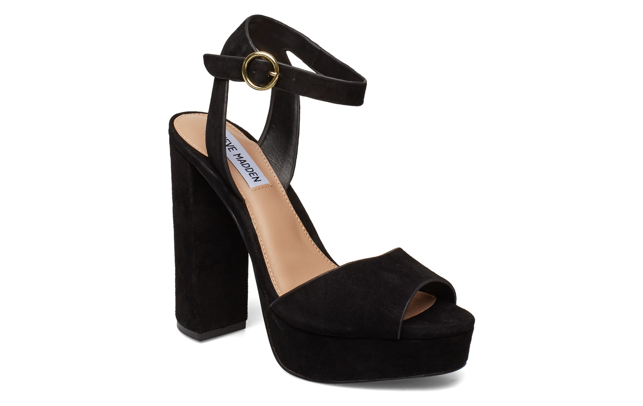 Steve Madden Madeline Dress Sandals - BLACK SUEDE