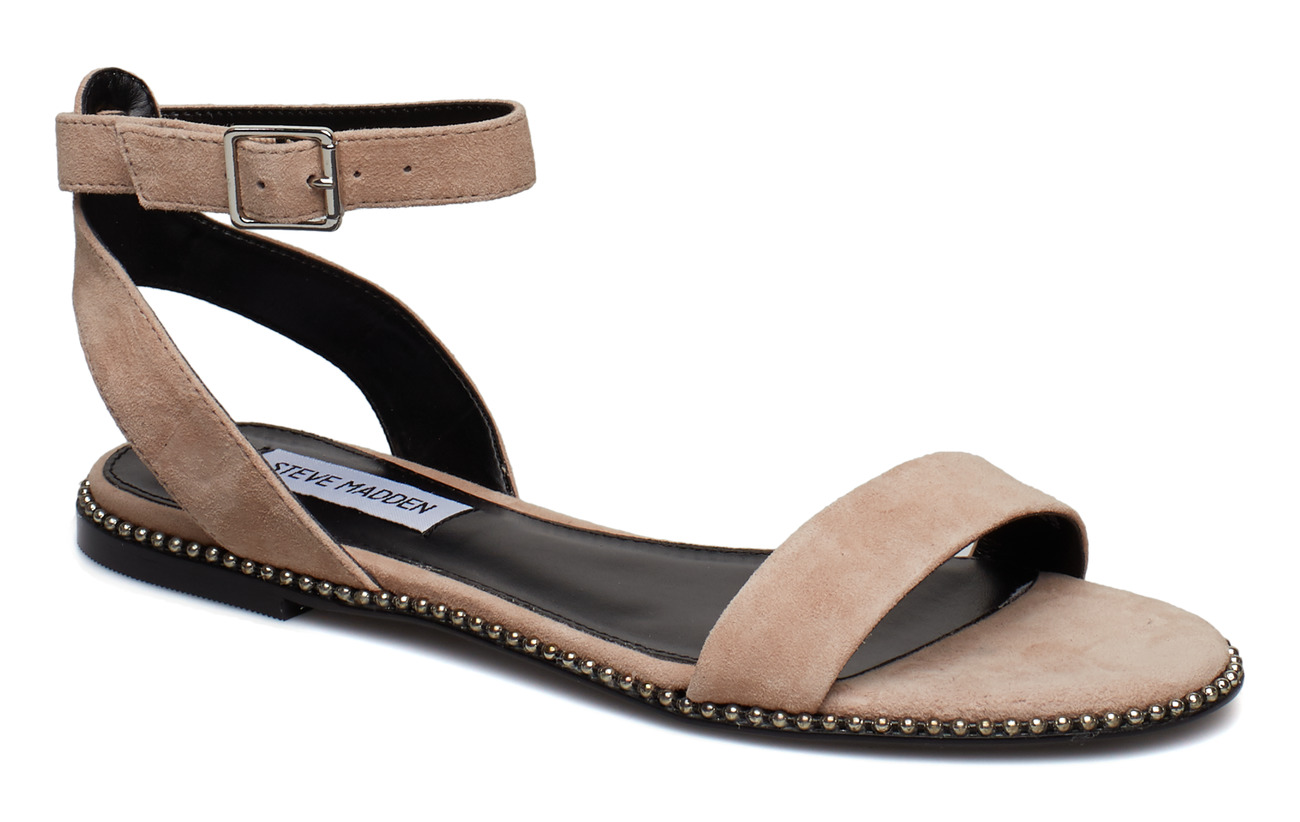 Steve Madden Salute Flat Sandals - BLUSH SUEDE