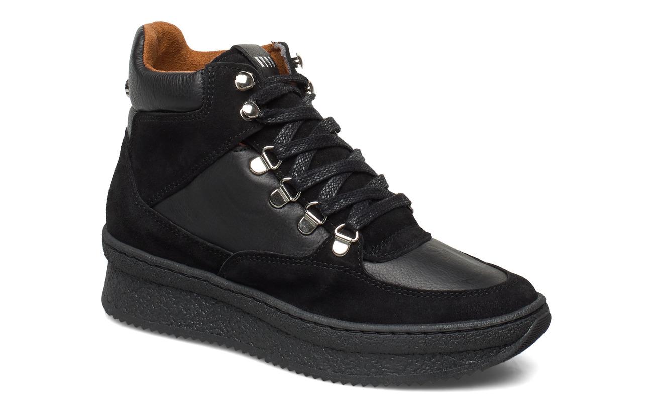 Steve Madden Pandora Sneaker - BLACK LEATHER