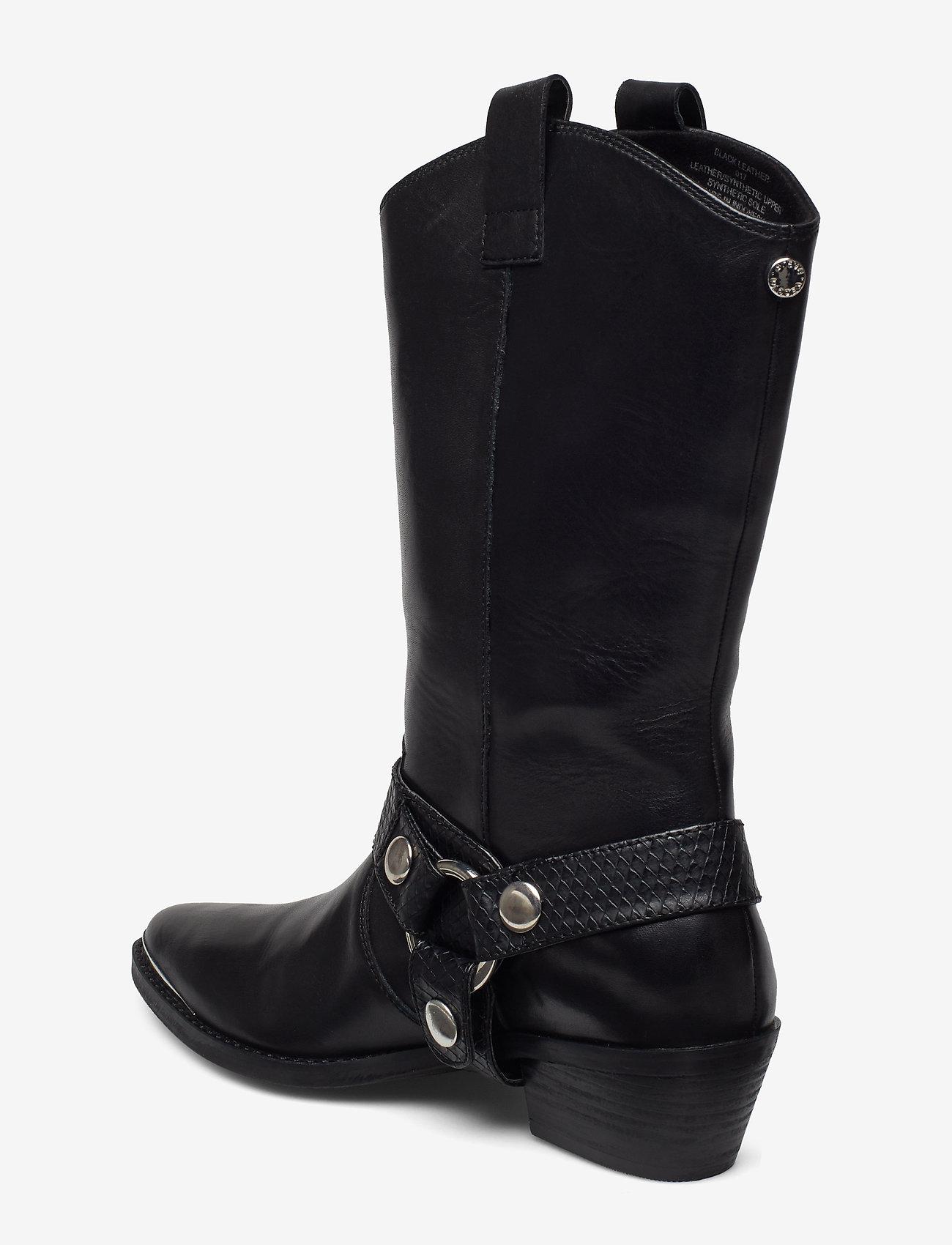 Galler Boot (Black Leather) - Steve Madden