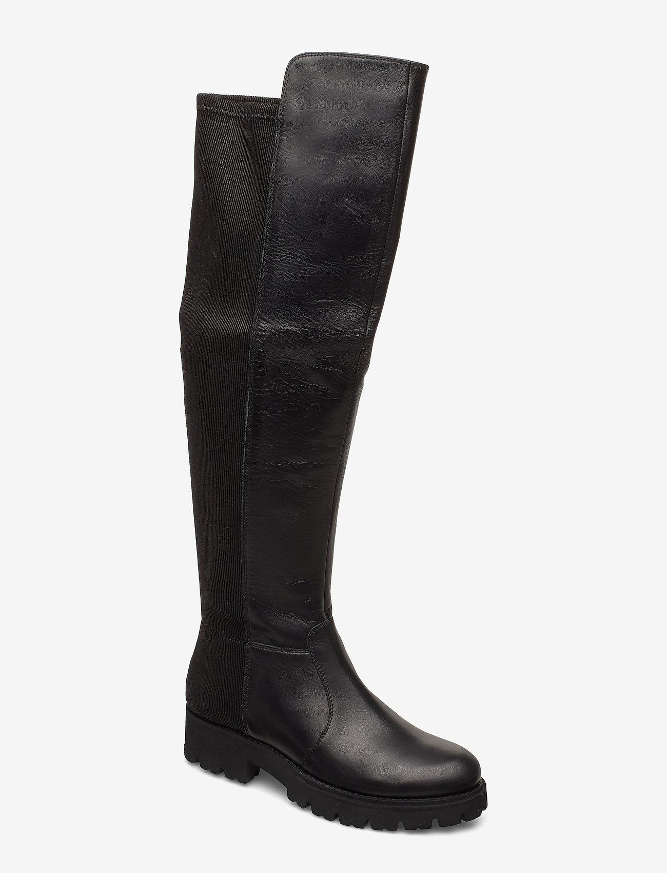Steve Madden - Hilly Boot - lange laarzen - black leather - 0
