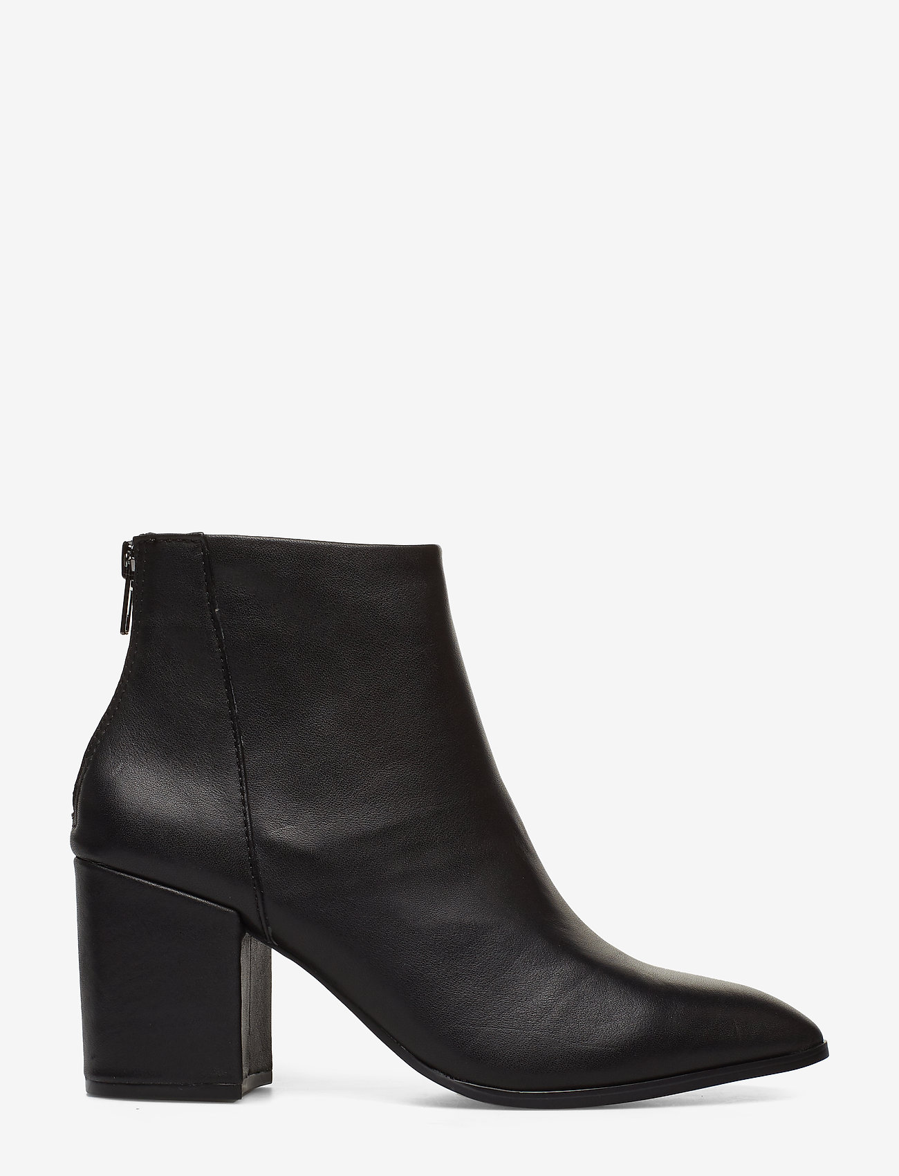 Steve Madden - Jillian - ankelboots med klack - black leather - 1