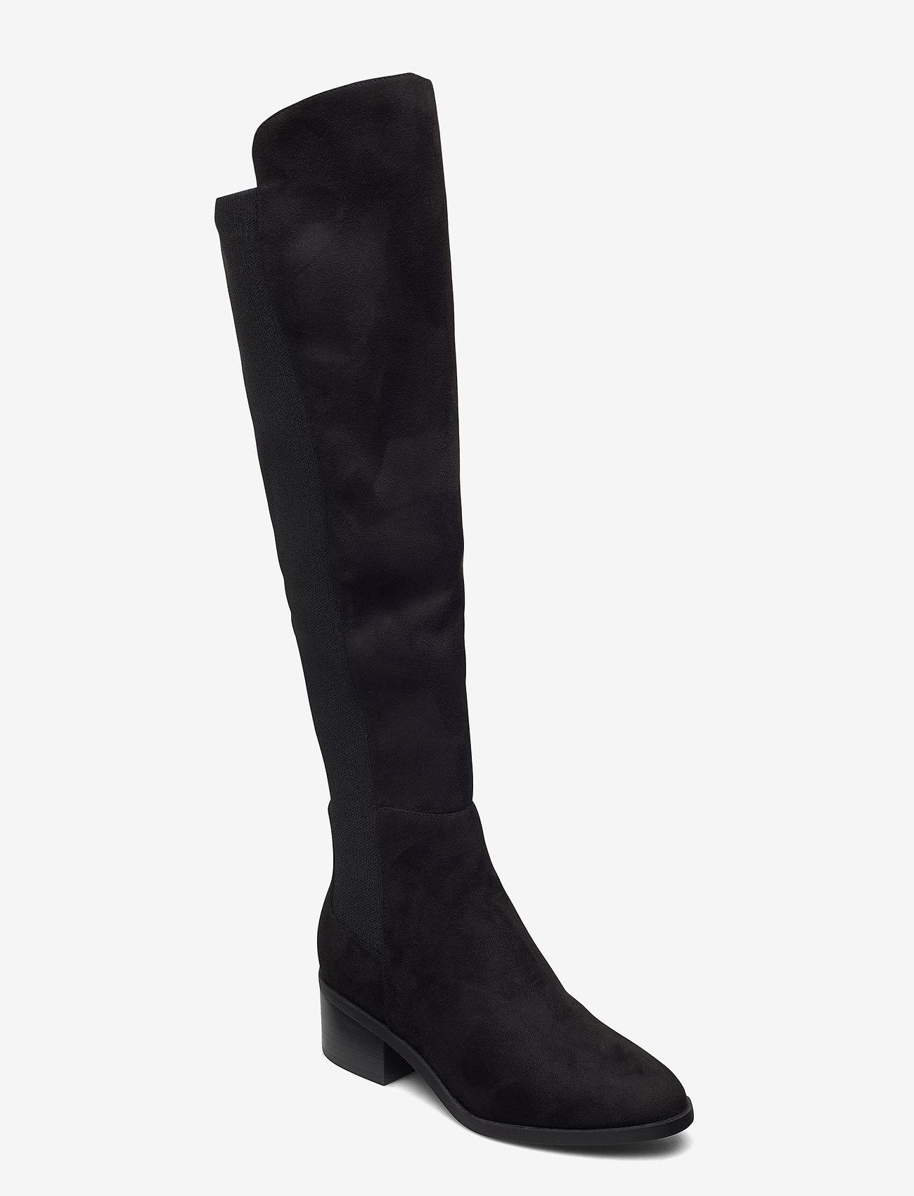 Steve Madden - Graphite Boot - lange laarzen - black micro - 0