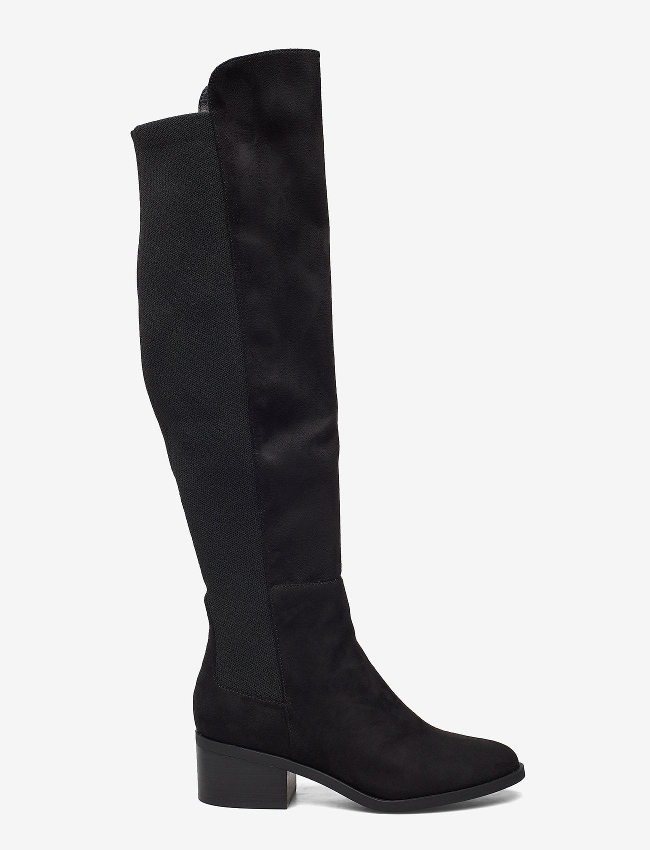 Steve Madden - Graphite Boot - lange laarzen - black micro - 1