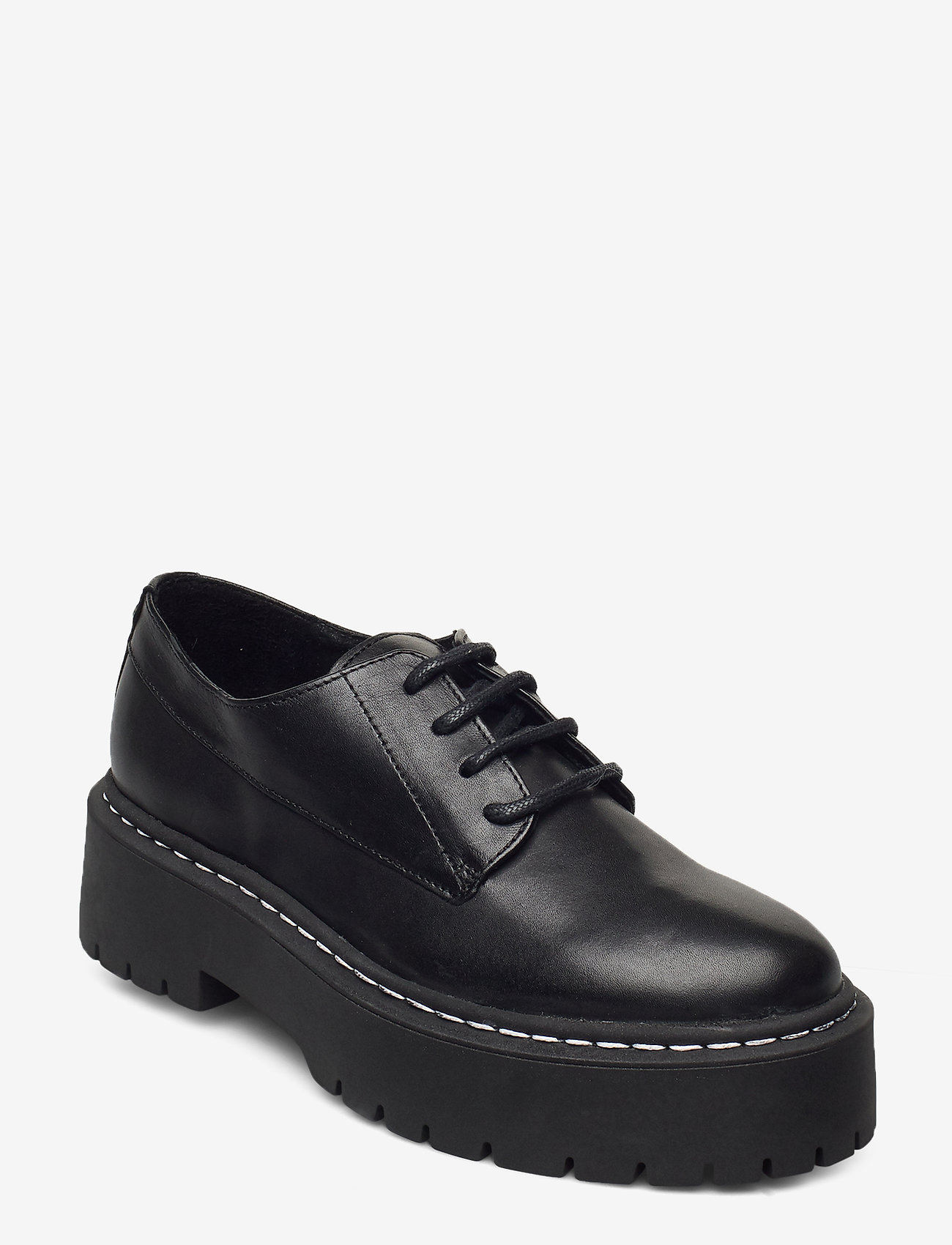 Steve Madden - Vlokke - snörskor - black leather - 0
