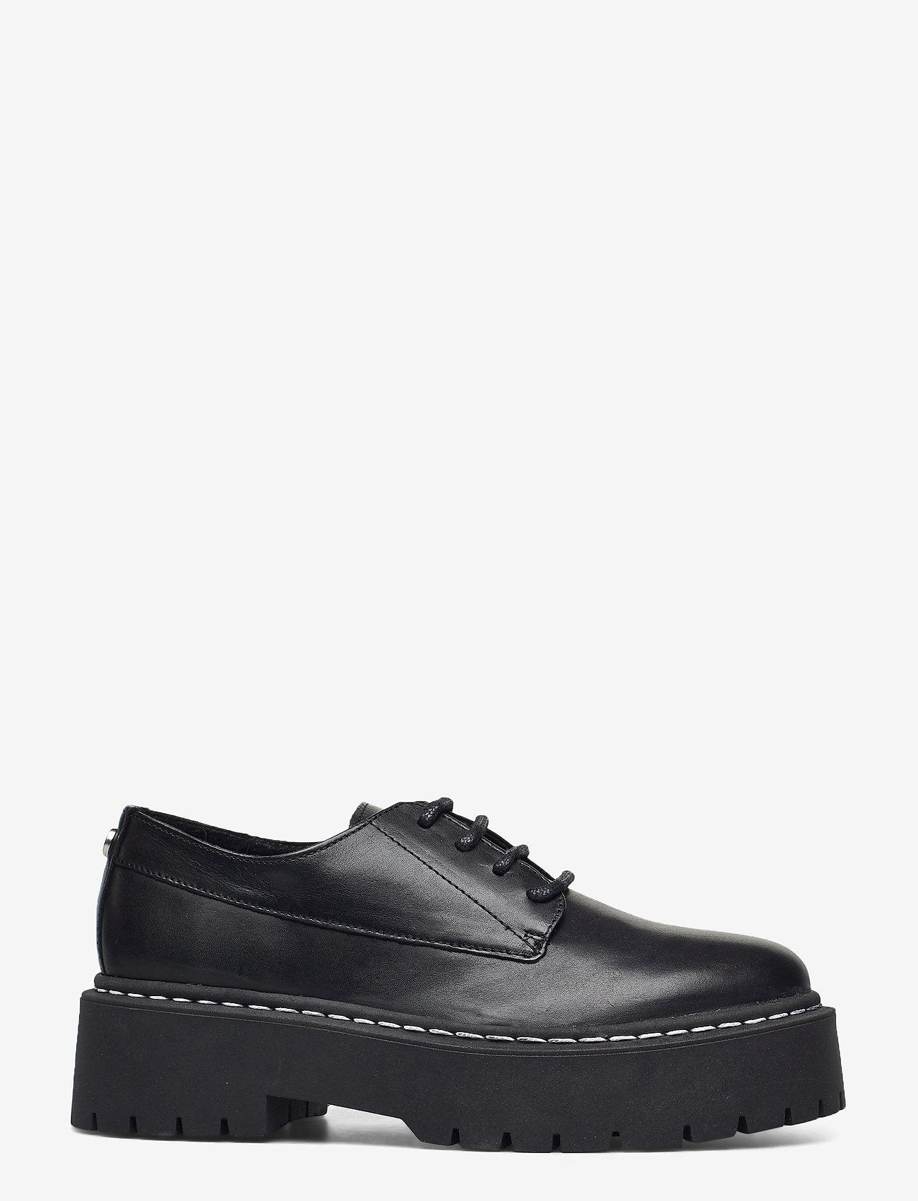 Steve Madden - Vlokke - snörskor - black leather - 1