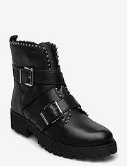 Steve Madden - Hoofy - niski obcas - black leather - 0