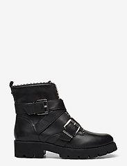 Steve Madden - Hoofy - niski obcas - black leather - 1
