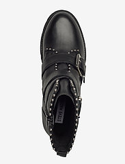 Steve Madden - Hoofy - niski obcas - black leather - 3