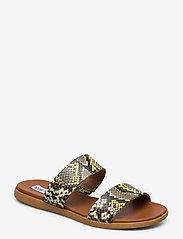 Steve Madden - Dual Sandal - płaskie sandały - gold snake - 0