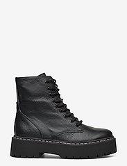Steve Madden - Skylar Bootie - platte enkellaarsjes - black leather - 1