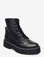 Steve Madden - Skylar Bootie - platte enkellaarsjes - black leather - 0