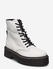 Steve Madden - Skylar - niski obcas - white leather - 0