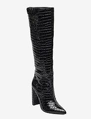 Steve Madden - Tamsin - lange laarzen - black croco - 0