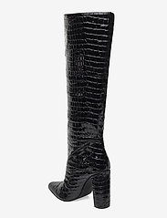 Steve Madden - Tamsin - lange laarzen - black croco - 2