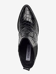Steve Madden - Patricia - platte enkellaarsjes - black croco - 3