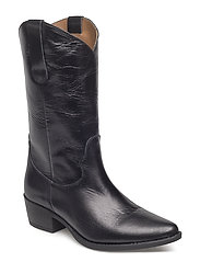Alto Bootie - BLACK LEATHER