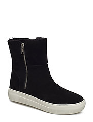 Garrson Wedge Sneaker - BLACK SUEDE