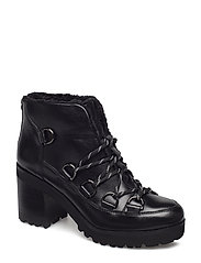 Zana Biker Boot - BLACK LEATHER