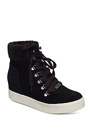 Windy High Sneaker - BLACK SUEDE
