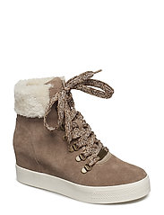 Windy High Sneaker - TAUPE SUEDE