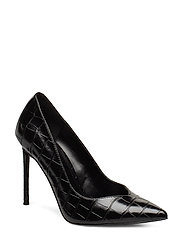 Princess Pump Winnie Harlow collection - BLACK CROCO