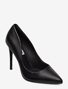 Daisie Heel - BLACK LEATHER