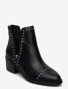 Conspire - ankelboots med klack - black leather