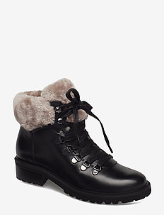 Tree Ankle Boot - BLACK LEATHER