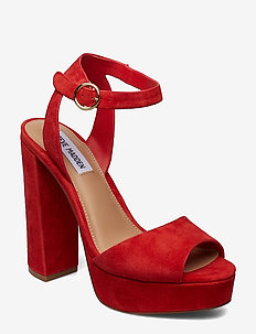 Madeline Dress Sandals - RED SUEDE