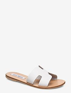 Grayson Slide - white leather