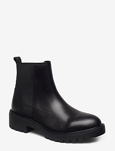Gliding Bootie - BLACK LEATHER