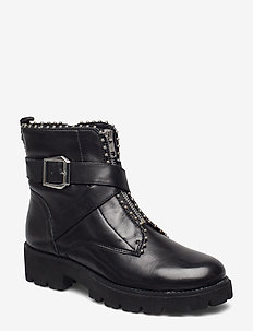 Jacky Bootie - BLACK LEATHER