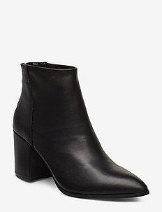 Jillian Bootie (leather) - BLACK LEATHER