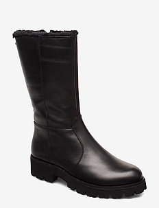 Holly Boot - BLACK LEATHER