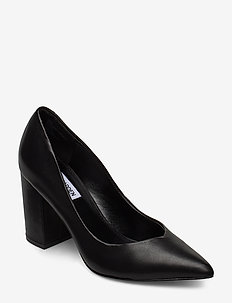 Portrait Heel - BLACK LEATHER