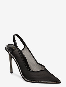 Savlamar Pump - sling backs - black mesh