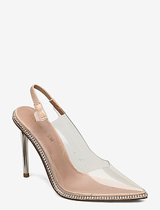 Savlamar Pump - sling backs - clear