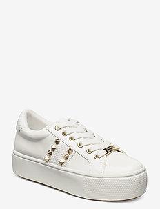 Escala - chunky sneakers - white patent
