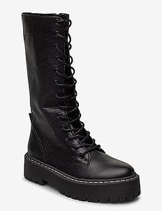Vroom - høye boots - black leather