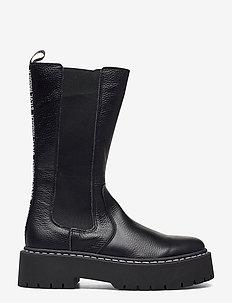 Vivianne Boot - flache stiefeletten - black leather