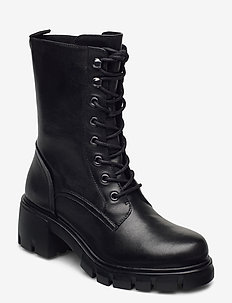Hunter - høye boots - black leather
