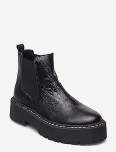 Veerly - niski obcas - black leather