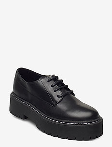 Vlokke - buty sznurowane - black leather