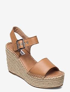 Yunity Sandal - højhælede espadrillos - tan leather
